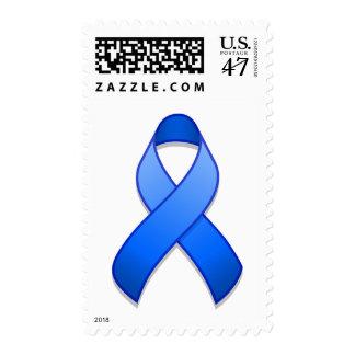 Franqueo azul de la cinta de la conciencia estampillas