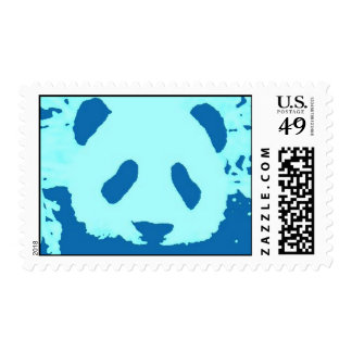 Franqueo azul de la panda del arte pop