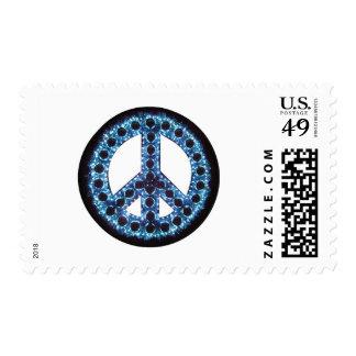 franqueo azul de la paz