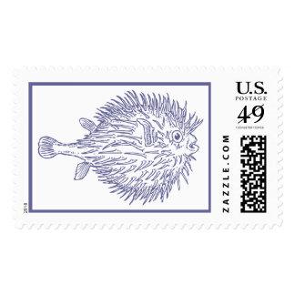 Franqueo azul de los pescados del fumador timbres postales