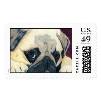 Franqueo azul de sensación timbres postales