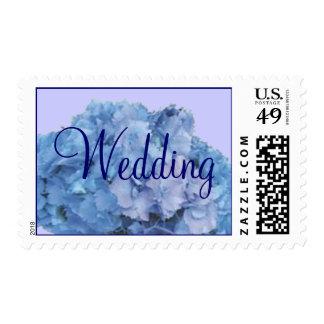 Franqueo azul del boda de Hydrangia