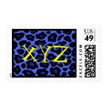 Franqueo azul del leopardo