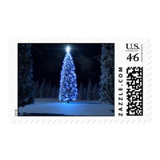 Franqueo azul del navidad