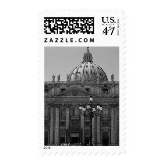 Franqueo blanco negro de Roma de la basílica de St Sellos Postales