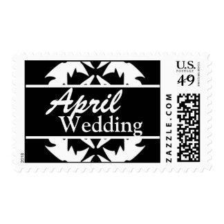 Franqueo blanco y negro del boda de abril del pers