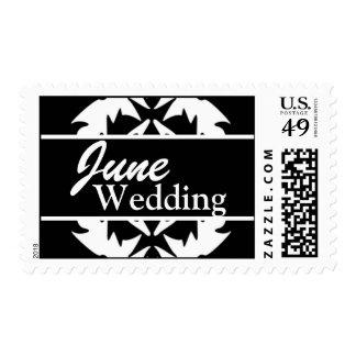 Franqueo blanco y negro del boda de junio del pers