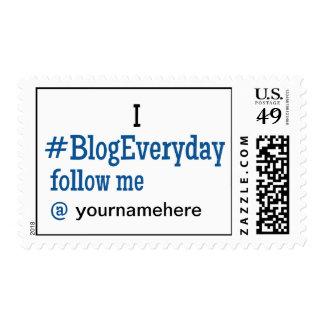 Franqueo #BlogEveryday I con el username del gorje