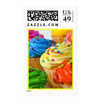 Franqueo brillante de las magdalenas sello postal
