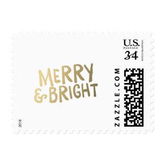 Franqueo brillante del día de fiesta del brillo el timbre postal