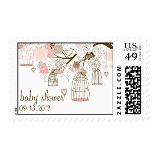Franqueo caprichoso rosado de la fiesta de timbre postal