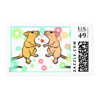 Franqueo caseoso de los ratones sello