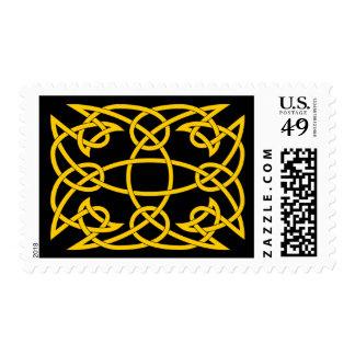 Franqueo céltico del nudo del oro sello