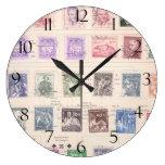 Franqueo checoslovaco del vintage relojes de pared