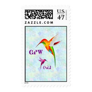 Franqueo cherokee del colibrí timbres postales