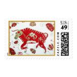 Franqueo chino de la astrología del buey