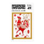 Franqueo chino de la astrología del gallo