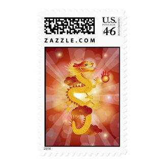 Franqueo chino feliz del dragón