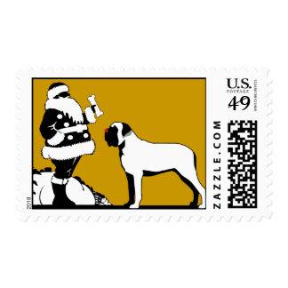 Franqueo con la nariz roja del mastín timbres postales
