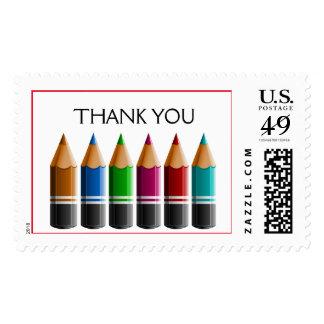 Franqueo contemporáneo coloreado de los lápices - estampillas