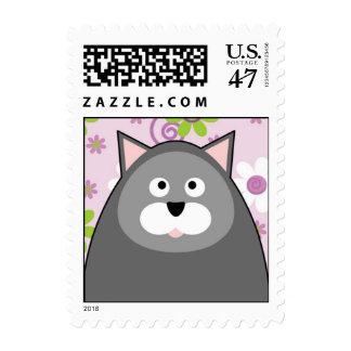 Franqueo contento del gato timbres postales