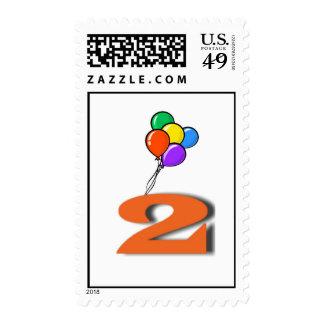 Franqueo de 2 cumpleaños timbres postales