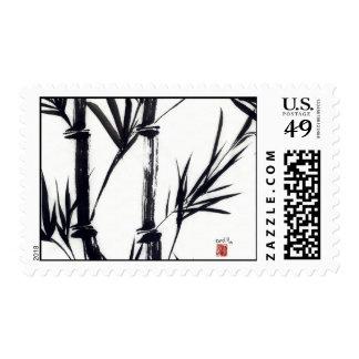 Franqueo de bambú del arte