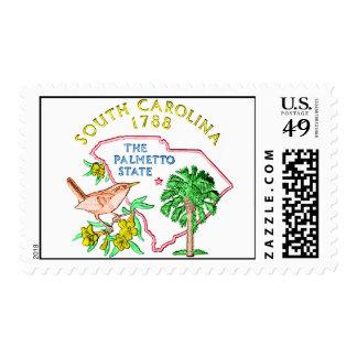 Franqueo de Carolina del Sur Timbre Postal
