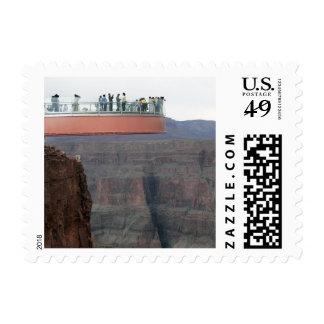 Franqueo de cristal 2 de Skywalk del Gran Cañón Timbres Postales