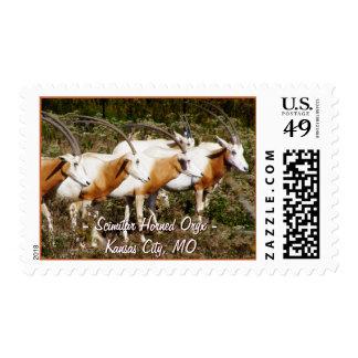 Franqueo de cuernos del Oryx del Scimitar Sello Postal