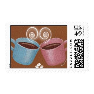 Franqueo de Cupple de la taza Sello
