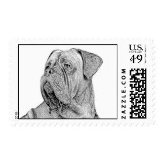 Franqueo de Dogue de Bordeaux Timbre Postal