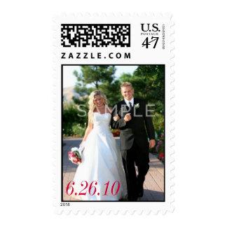 Franqueo de encargo de la foto del boda sello