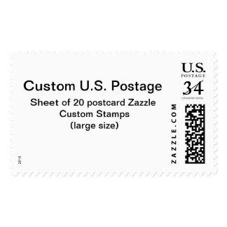 Franqueo de encargo de la postal (de gran tamaño) estampillas
