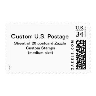 Franqueo de encargo de la postal (talla media) sellos postales