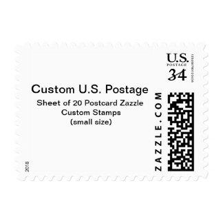 Franqueo de encargo de la postal timbre postal