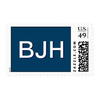 Franqueo de encargo del monograma de BJH para la Timbres Postales