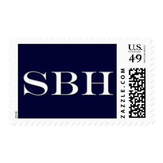 Franqueo de encargo del monograma de SBH para la Sello Postal