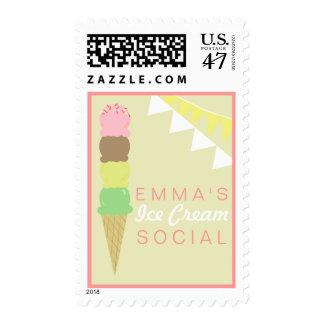 Franqueo de encargo social del helado timbre postal