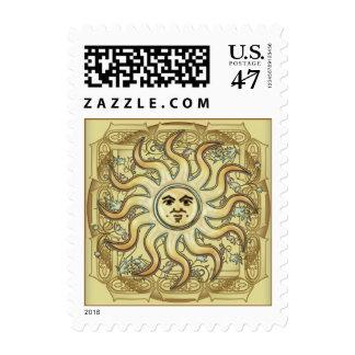 Franqueo de estilo celta de Litha Sun Sello