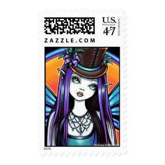 Franqueo de hadas del arte del ajenjo gótico de la timbres postales
