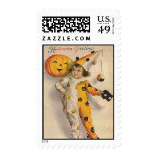 franqueo de Halloween del vintage
