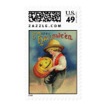 Franqueo de Halloween del vintage Timbres Postales
