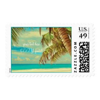 Franqueo de Hawaii beach/DIY del vintage de Timbres Postales