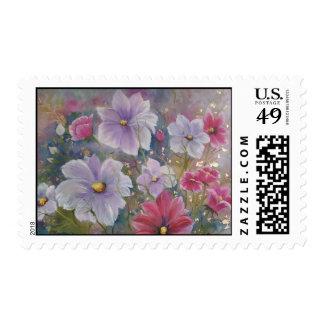 franqueo de la alegría de la primavera sellos postales