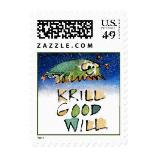 Franqueo de la ballena del navidad de la voluntad timbre postal