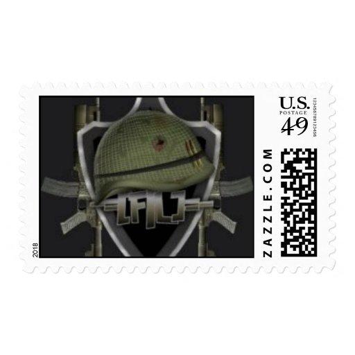 Franqueo de la banda timbres postales