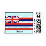 Franqueo de la bandera de Hawaii