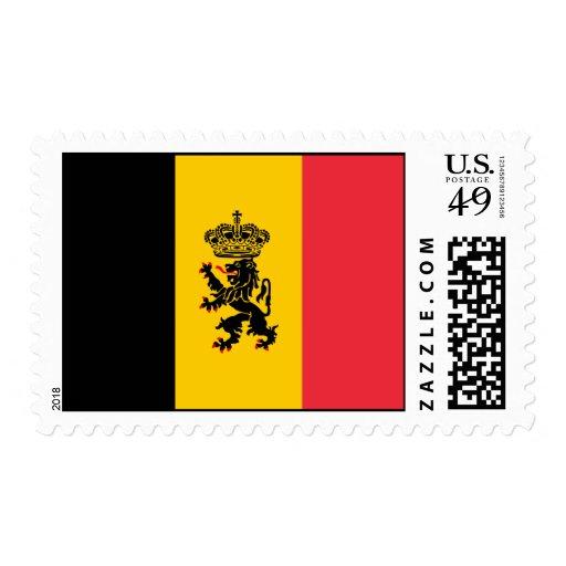 Franqueo de la bandera del estado de Bélgica Timbre Postal