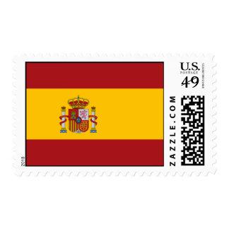 Franqueo de la bandera nacional de España Sello